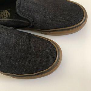 Vans Shoes - Boys Gray Slip-On Vans Size 5.5